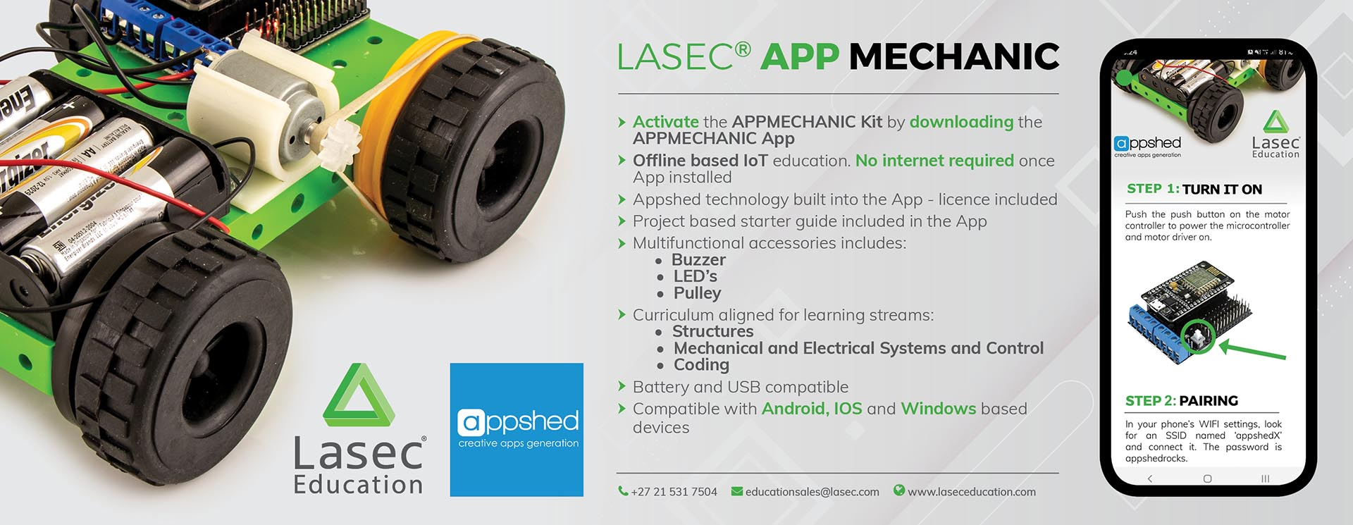 Lasec® Education App Mechanic